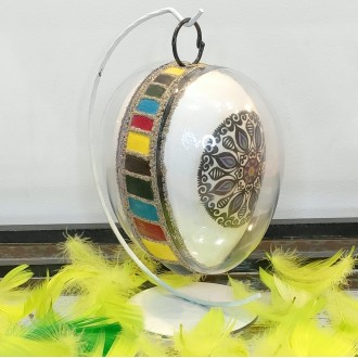 Jajko folklorowe w akrylu