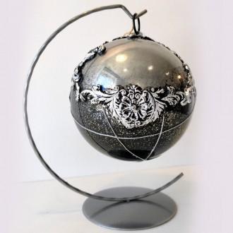 Bombka akrylowa glamour srebrna
