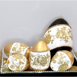 Komplet złoto-czarnych jaj