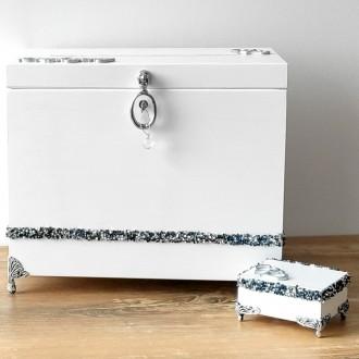 Zestaw - Pudełko na koperty i obrączki